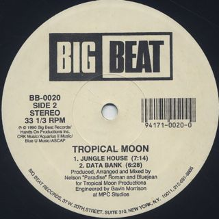 Tropical Moon / Love Is A Mystery label