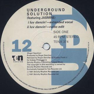Underground Solution / Luv Dancin' label