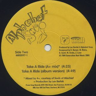 Alphabet Soup / Take A Ride label