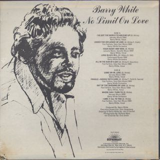 Barry White / No Limit On Love back