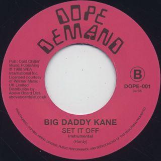 Big Daddy Kane / Set It Off back