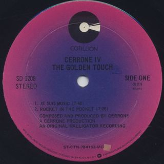 Cerrone / IV The Golden Touch label
