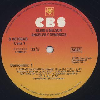 Elkin & Nelson / Angeles Y Demonios label
