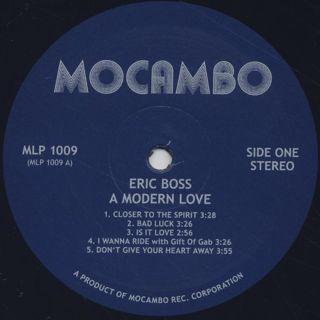 Eric Boss / A Modern Love label
