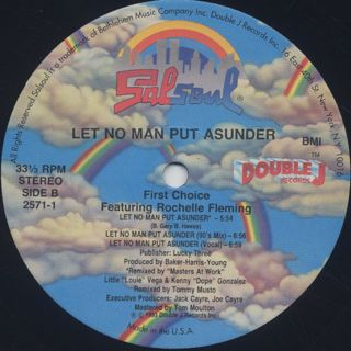 First Choice Featuring Rochelle Fleming / Let No Man Put Asunder label