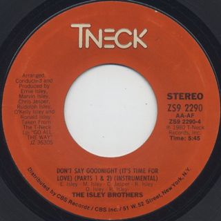 Isley Brothers / Don't Say Goodnight (Part 1&2) c/w Inst. back
