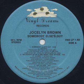 Jocelyn Brown / Somebody Else's Guy label
