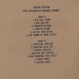 Joseph Cotton / The Sound Of Bond Street back