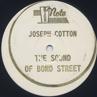 Joseph Cotton / The Sound Of Bond Street label