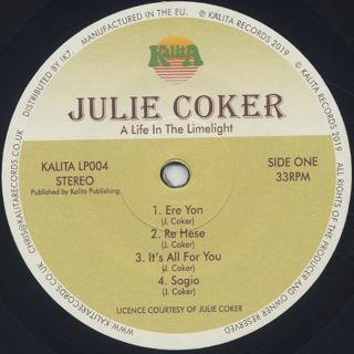 Julie Coker / A Life In The Limelight (Lagos Disco & Itsekiri Highlife 1976-1981) label