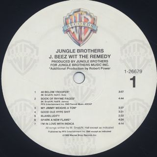 Jungle Brothers / J Beez wit the Remedy label
