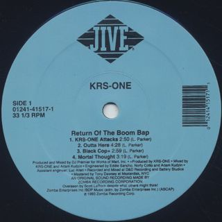 KRS One / Return Of The Boom Bap back