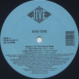 KRS One / Return Of The Boom Bap label