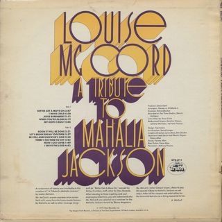 Louise Mccord / A Tribute To Mahalia Jackson back