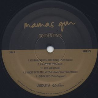 Mamas Gun / Golden Days label
