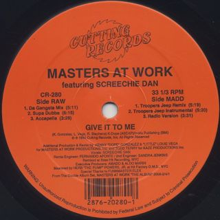 Masters At Work / Give It To Me back