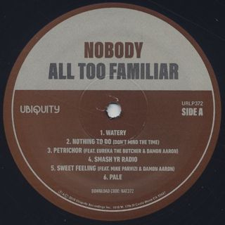 Nobody / All Too Familiar label