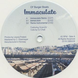 Ol' Burger Beats / Immaculate Remix front