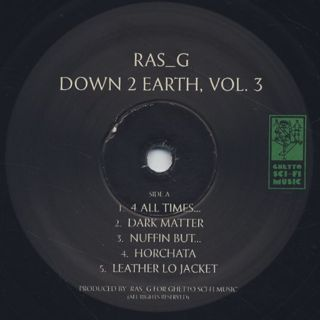 Ras G / Down 2 Earth, Vol. 3 label