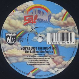 Salsoul Orchestra / You're Just The Right Size c/w Runaway back