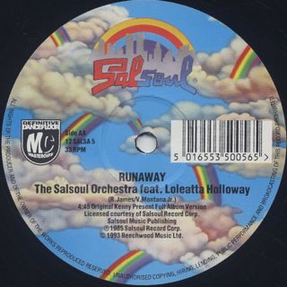 Salsoul Orchestra / You're Just The Right Size c/w Runaway label
