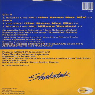 Shakatak / Brazilian Love Affair back