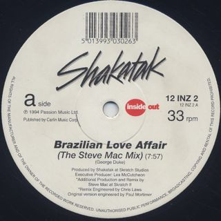 Shakatak / Brazilian Love Affair label