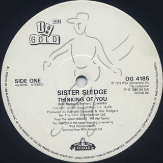 Sister Sledge / Thinking Of You c/w Lost In Music label