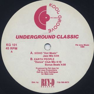 Soho / Earth People - Underground Classic front