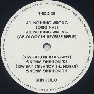 Wayne Snow / Nothing Wrong label