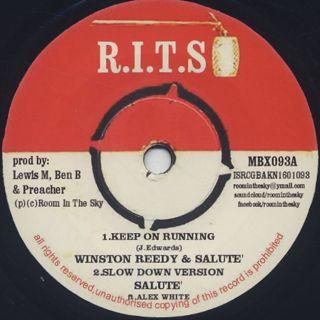 Winston Reedy & Salute / Keep On Running
