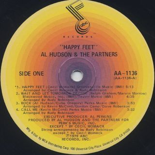 AL Hudson And The Partners / Happy Feet label