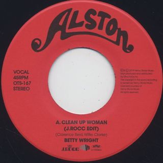 Betty Wright / Clean Up Woman (J.Rocc Edit) back