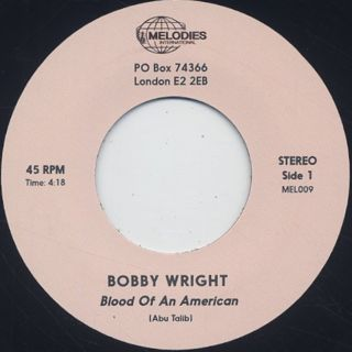 Bobby Wright / Bloods Of An American label