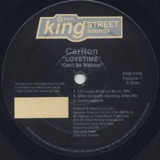 Carlton / Lovetime label