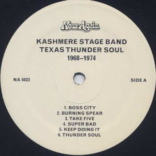 Kashmere Stage Band / Texas Thunder Soul 1968-1974 label