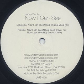 Kenny Bobien / Now I Can See label