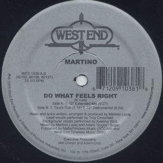 Martino / Do What Feels Right back