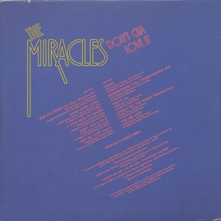 Miracles / Don't Cha Love It back