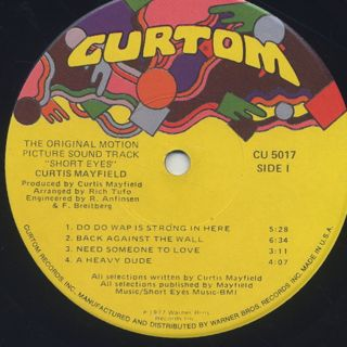 O.S.T.(Curtis Mayfield) / Short Eyes label