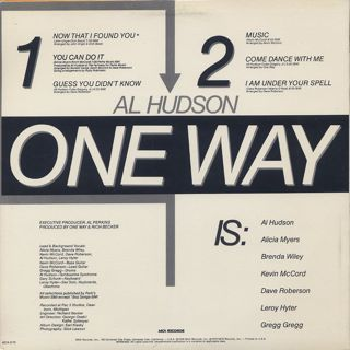 One Way featuring Al Hudson / S.T. back