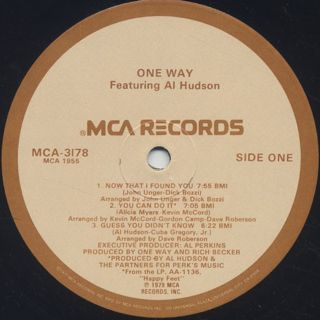 One Way featuring Al Hudson / S.T. label