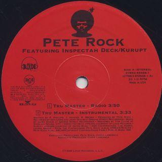 Pete Rock / Tru Master feat Inspectah Deck & Kurupt (w/Jacket) label