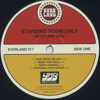 Standing Room Only / Heart And Soul label