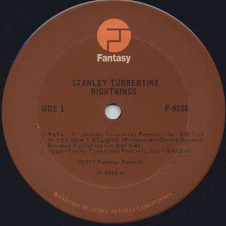 Stanley Turrentine / Nightwings label