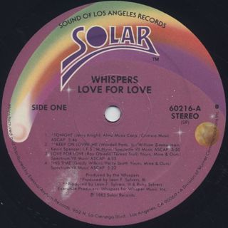 Whispers / Love For Love label