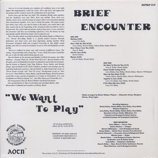 Brief Encounter / We Want To Play back