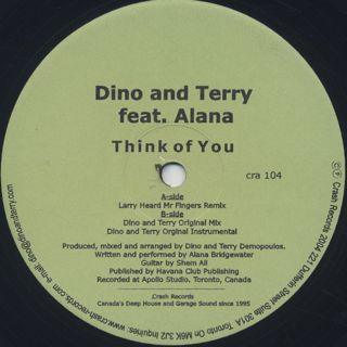 Dino And Terry / Think Of You front
