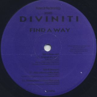 Diviniti / Find A Way front