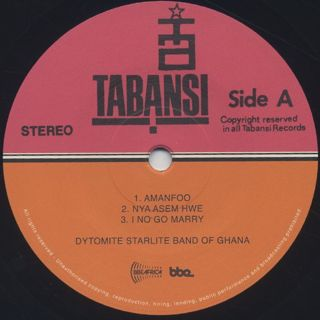 Dytomite Starlite Band Of Ghana / S.T. label